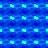 Blå bakgrund med abstrakta cirklar Royaltyfria Bilder