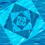Blå bakgrund med fyrkanter stock illustrationer