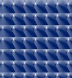 Blå bakgrund med glödande trianglar Arkivbild
