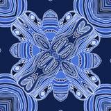 Blå bakgrund med linjer royaltyfri illustrationer
