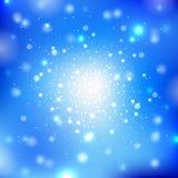 Blå bakgrund med ljus Royaltyfri Bild