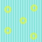 Blå bakgrund med maskrosor Royaltyfria Bilder