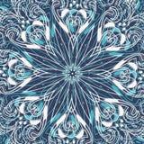 Blå bakgrund med snöflingor Royaltyfri Fotografi