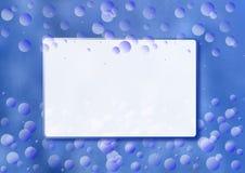 Blå bakgrund med vattenbubblor Arkivbilder