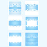 Blå bakgrundssamling Royaltyfria Bilder
