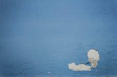 Blå bakgrundstappningvägg i industribyggnad Arkivfoto