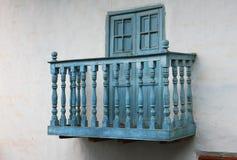 Blå balkong i Peru Arkivfoton