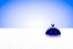 Blå Bauble i päls Royaltyfri Bild