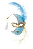blå befjädrad guldmaskering Royaltyfria Foton