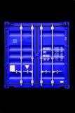 blå behållare Royaltyfri Bild