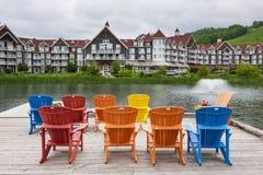 Blå bergby, Collingwood, Kanada Arkivfoto