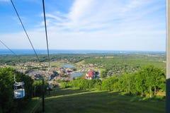 Blå bergby Ontario arkivfoton