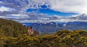 blå bergpanorama Royaltyfri Foto