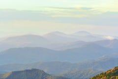 blå bergskedjakant Arkivbilder