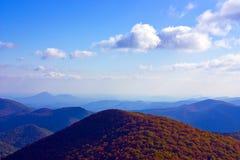 blå bergskedjakant Royaltyfri Fotografi