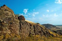 blå bergsky Fotografering för Bildbyråer