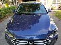 blå bil royaltyfri foto