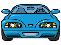 Blå bil Royaltyfria Foton