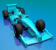 blå bil Arkivfoto