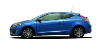blå bil Arkivbild