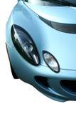 blå bil vita isolerade sportar Royaltyfria Foton