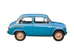 blå bilcompact Arkivfoto