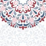 blå blom- hälsning för kortdesign Arkivbilder