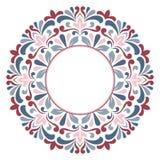 blå blom- hälsning för kortdesign Royaltyfria Foton