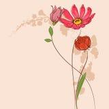blå blom- hälsning för kortdesign royaltyfri illustrationer
