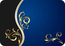 blå blom- illustration för affärskort royaltyfri illustrationer