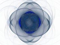 Blå blom- modell i form av en abstrakt fractal Royaltyfri Foto