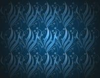 blå blom- wallpaper Arkivfoto