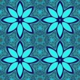 Blå blomma belagd med tegel fractal Arkivfoton