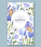 blå blomma för baner Royaltyfri Fotografi