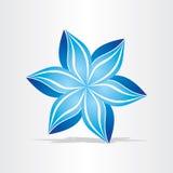 Blå blommaabstrakt begreppdesign Stock Illustrationer