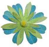 blå blommagreen för bakgrund Fotografering för Bildbyråer