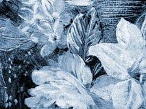 blå blommamodell Royaltyfri Bild