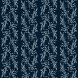 blå blommig wallpaper Royaltyfri Fotografi