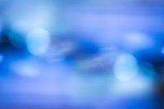 blå bokeh abstrakt bakgrund Royaltyfri Foto