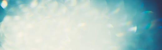 Blå bokeh för isvinterkonst Arkivfoton