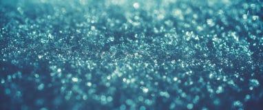 Blå bokeh för isvinterkonst Arkivbild