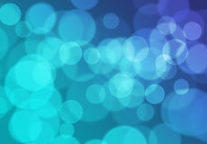 Blå Bokeh ljus bakgrund Royaltyfria Bilder