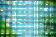 Blå bokehabstrakt begreppbakgrund Arkivfoto