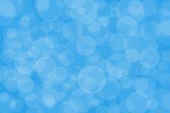 Blå bokehbakgrund Royaltyfri Bild