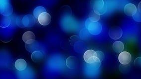 Blå bokehbakgrund som skapas av neonljus 4K lager videofilmer