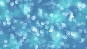 Blå bokehbakgrund som skapas av neonljus 4K stock video