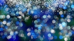 Blå bokehbakgrund som skapas av neonljus 4K arkivfilmer