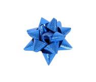 blå bow Arkivfoto