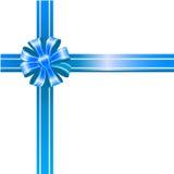 blå bow Fotografering för Bildbyråer