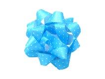 blå bow Arkivbilder